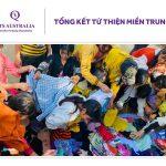 """Tổng kết chương trình thiện nguyện """"CHUNG TAY TÁI THIẾT MIỀN TRUNG VIỆT NAM"""" do Tổ chức Giáo dục QTS Australia tổ chức"""