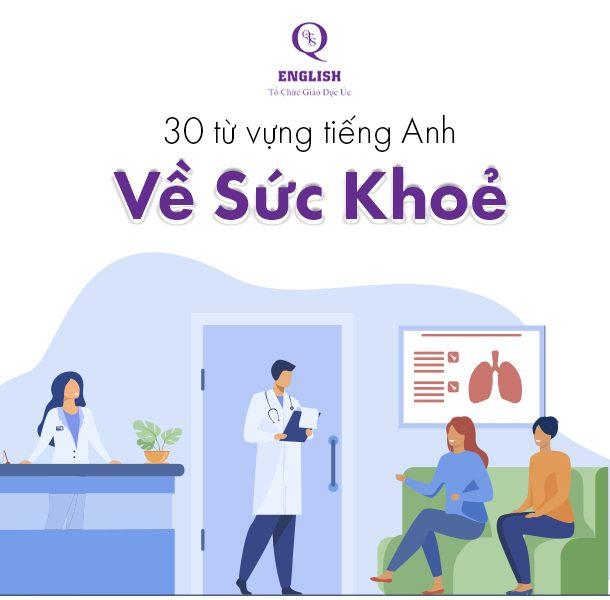 30 từ vựng tiếng anh về sức khỏe
